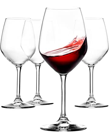 9f3dd69a1ec Paksh Novelty Italian Red Wine Glasses - 18 Ounce - Lead Free - Wine Glass  Set
