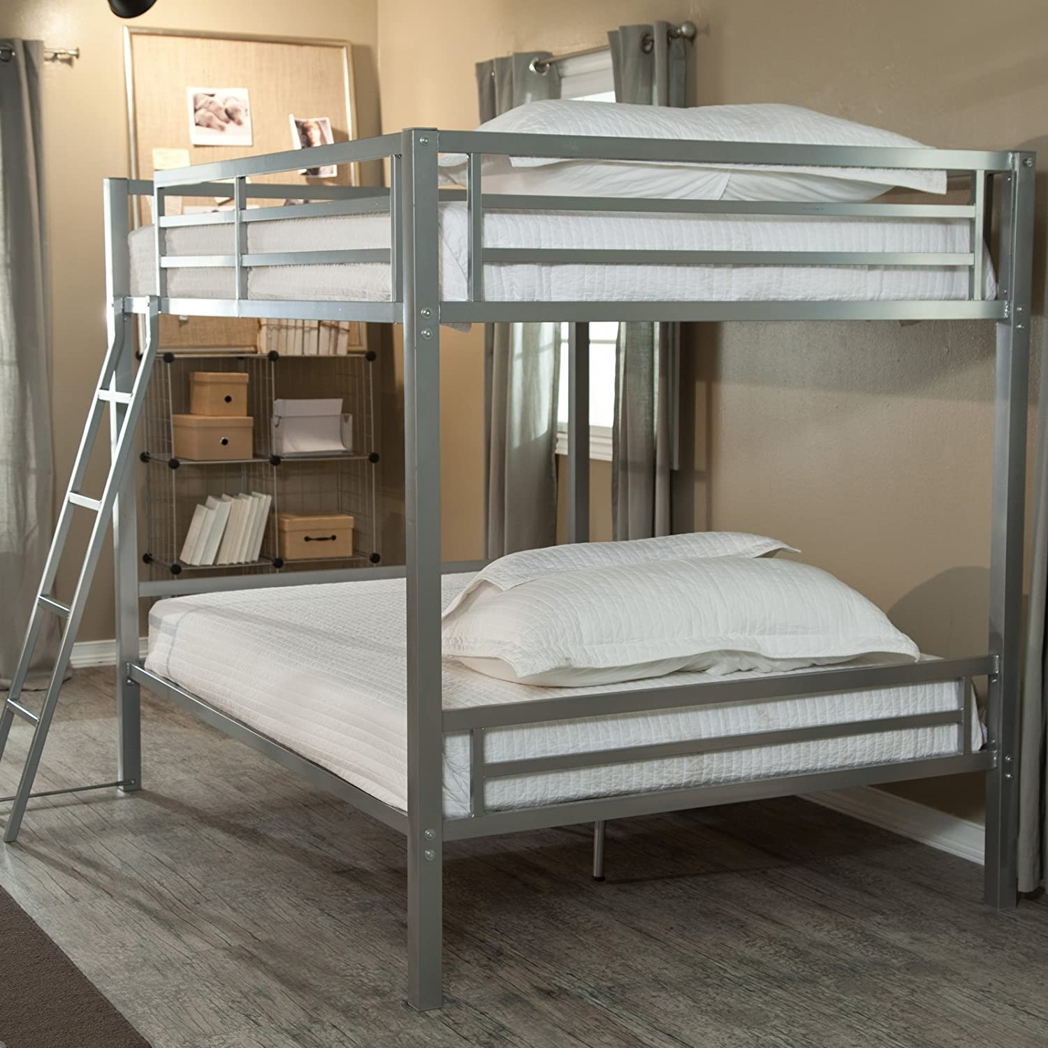 Merveilleux Amazon.com: Duro Hanley Full Over Full Bunk Bed   Silver: Kitchen U0026 Dining