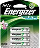 Energizer AAA Rechargeable Batteries, High Capacity Pre-Charged (4 Count)
