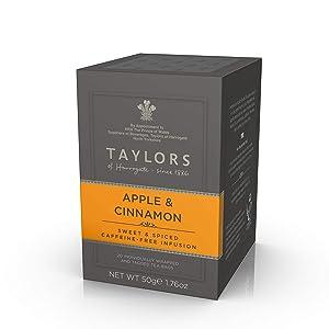 Taylors of Harrogate Apple & Cinnamon Herbal Tea, 20 Count (Pack of 1)
