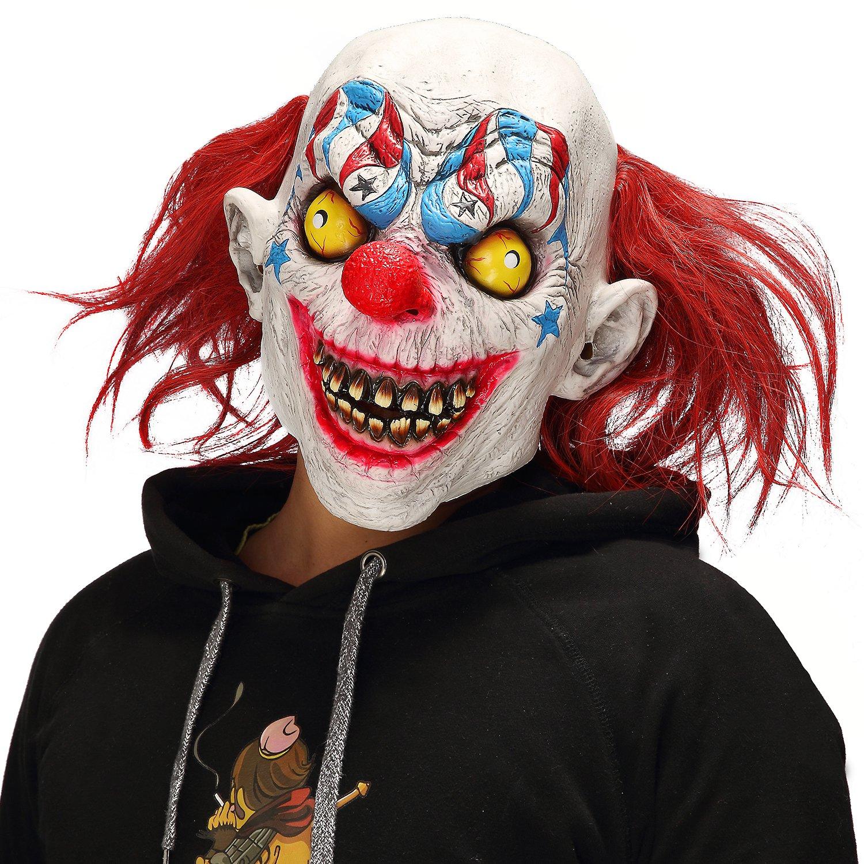 Halloween Horror Demon Joker Mask Scary Cosplay Evil Circus Clown Mask