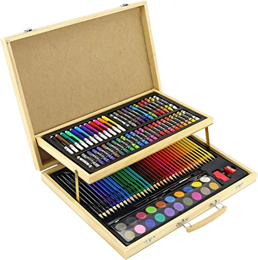 Greenfields 108pc Estuche de Madera para niños y Adultos - Juego de lápices para Colorear Pintura Dibujo Creatividad: Amazon.es: Hogar