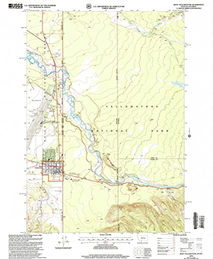 West Yellowstone Montana Map.Amazon Com West Yellowstone Mt Topo Map 1 24000 Scale 7 5 X 7 5