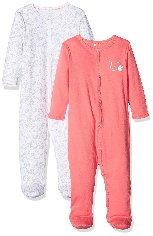 Name It Baby Girls' Nbfnightsuit W/F Noos Sleepsuit Pack of 2 13151610