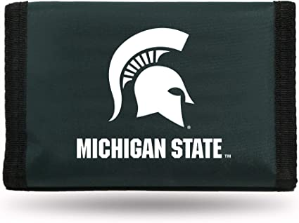 Rico Industries NCAA Michigan State Nylon Trifold Wallet