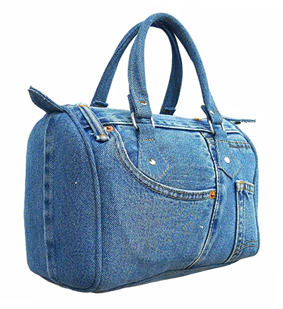 Bijoux De Ja Classic Blue Denim Jean Doctor Style Women Handbag (LL-04): Handbags: Amazon.com