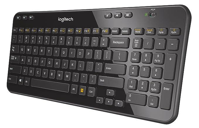e60141e90e1 Logitech K360 Wireless Keyboard - Black, UK layout: Amazon.co.uk: Computers  & Accessories