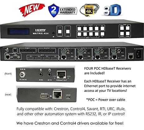 Amazon.com: 4x8 HDbaseT 4K HDMI 4x4 MATRIX SWITCHER w/ FOUR ETHERNET on boat sound system diagram, home stereo setup diagram, home structured wiring panel, home cable wiring, home audio system diagram, home surround sound diagram, home audio receivers, home audio setup, hdmi cable diagram, home subwoofer box design, home audio cabling diagram, home entertainment setup diagram, home media wiring, stereo speaker diagram, home internet wiring-diagram, home audio connections, home speaker diagram, home circuit diagram, home theater diagram, home lan diagram,
