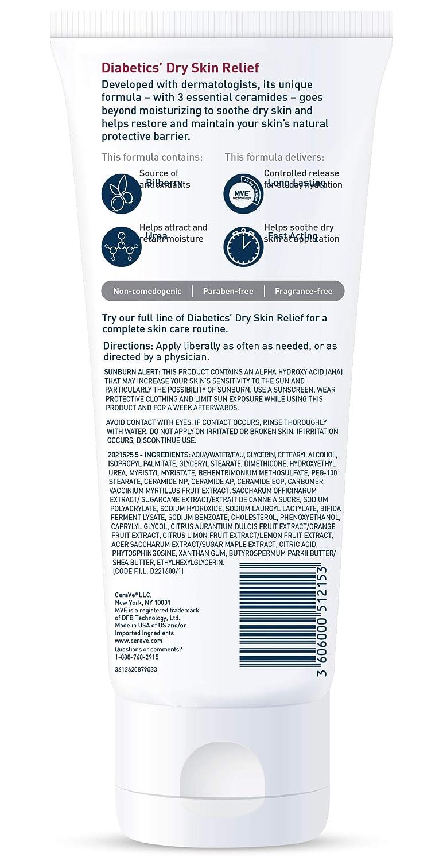Amazon Com Cerave Moisturizing Cream For Diabetics Dry Skin 8