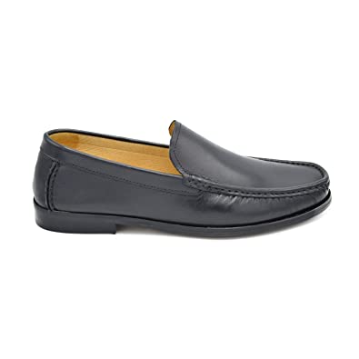 US201 - Men's Moccasin-Style Loafer featuring Leather Upper and Leather Sole