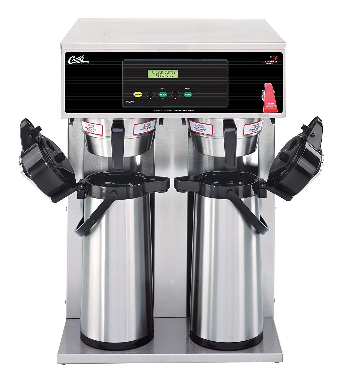 Wilbur Curtis G3 Airpot Brewer 2.2L To 2.5L Twin/Standard Airpot Coffee Brewer Dual Voltage - Commercial Airpot Coffee Brewer  - D1000GT63A000 (Each) Wilbur Curtis Co. Inc.