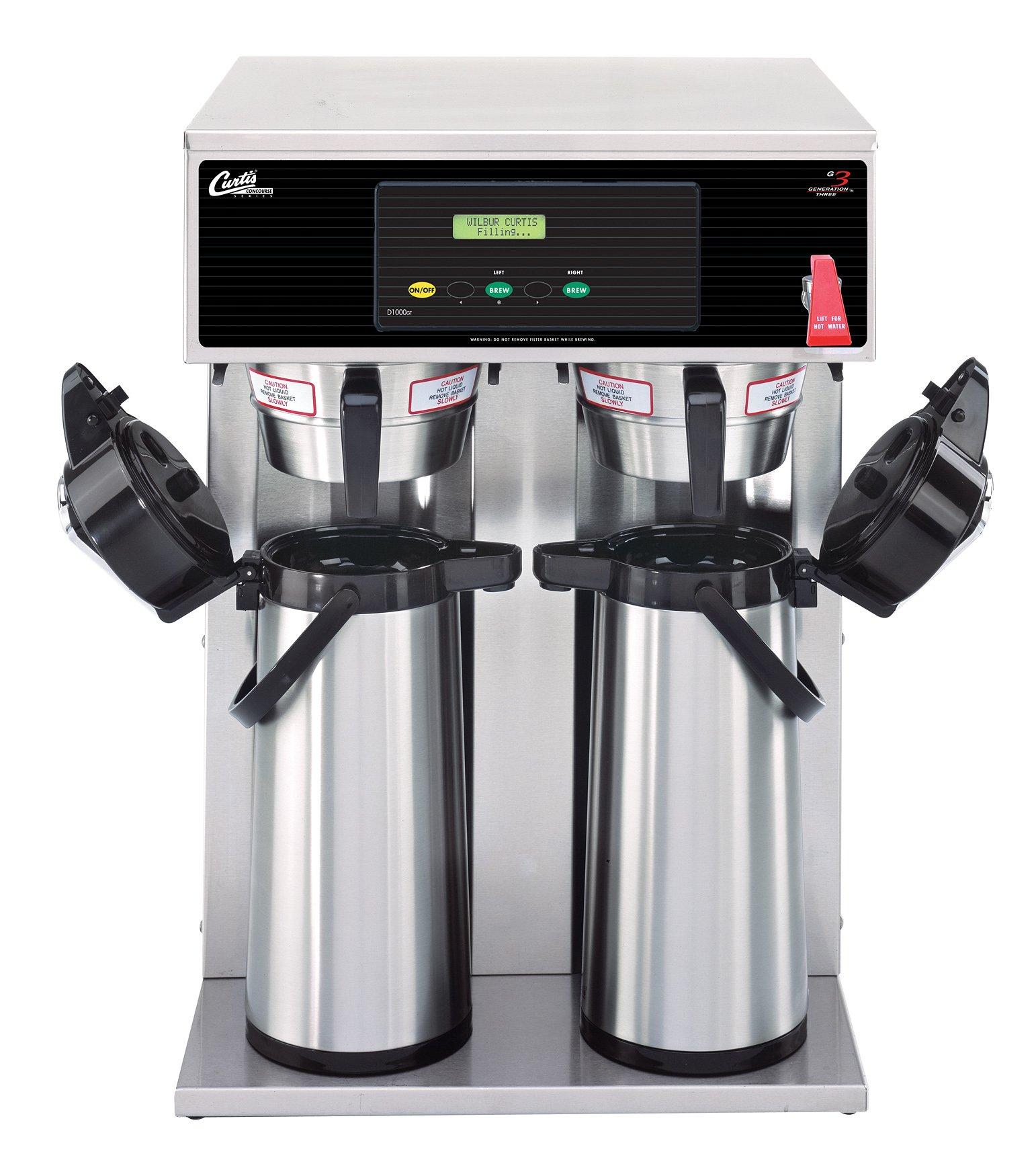 Wilbur Curtis G3 Airpot Brewer 2.2L To 2.5L Twin/Standard Airpot Coffee Brewer Dual Voltage - Commercial Airpot Coffee Brewer  - D1000GT63A000 (Each)