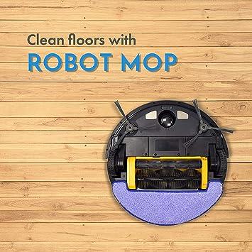 iView WiFi inteligente robot de limpieza de vacío, con amplios y mopa para suelos duros y ...
