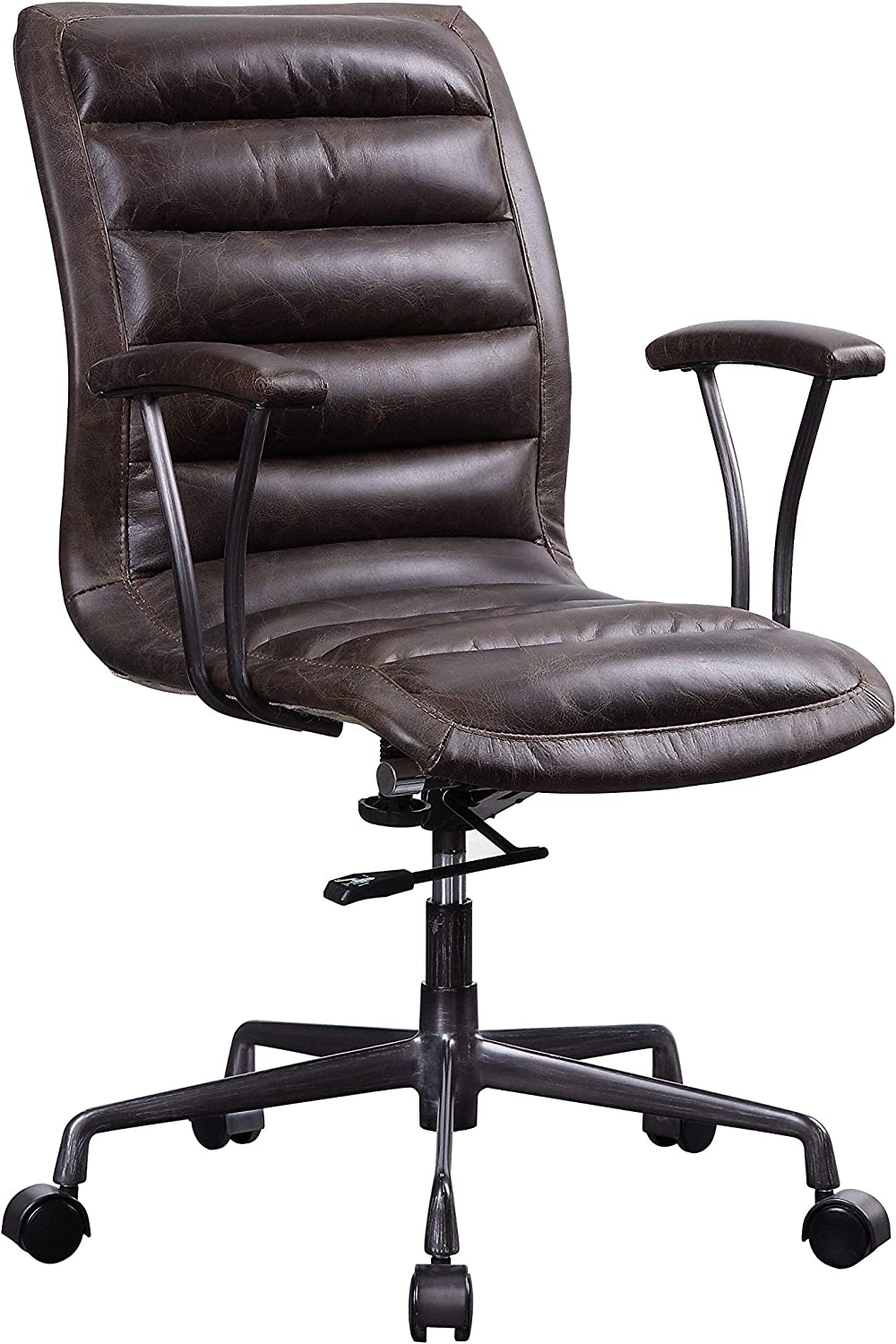 ACME Zooey Executive Office Chair - - Distress Chocolate Top Grain Leather