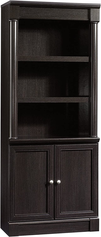 "Sauder 416515 Palladia Library With Doors, L: 29.37"" x W: 13.90"" x H: 71.85"", Wind Oak finish"