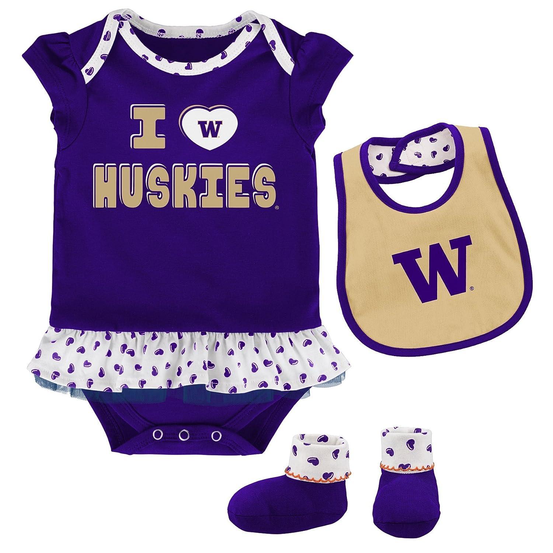 大量入荷 OuterStuff NCAA Huskies チームLoveボディスーツ 24 新生児&幼児用 よだれかけ よだれかけ & ブーティーセット B073ZWGMP9 24 Months 24 Months|Washington Huskies, Crave-Love:38c71cce --- svecha37.ru
