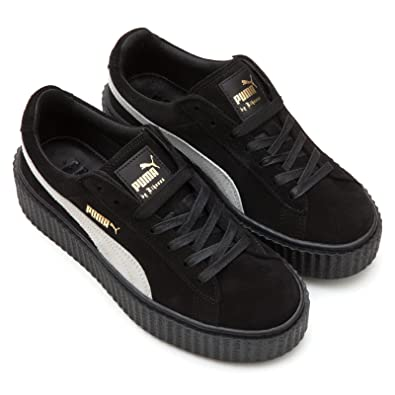 Women s Puma Rihanna Fenty Suede Creepers Trainers 361005 01 Black-Star  White UK7.5 7dc606fff