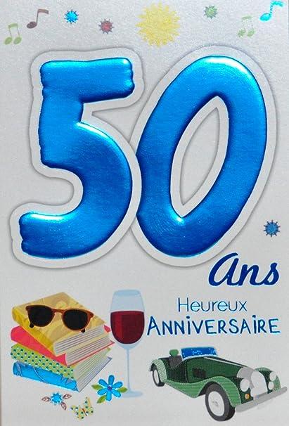 Age MV 69 - 2034 tarjeta cumpleaños 50 años hombre, diseño ...
