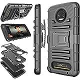 Moto Z2 Force Case, Motorola Z2 Force Holster Clip, Tekcoo [Hoplite] Shock Absorbing [Black] Swivel Locking Belt…