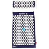 Spoonk - Back Pain and Sleep Aid Relief in Cotton Regular Size Acupressure Mat with Bag Eco USA Foam, Navy Blue