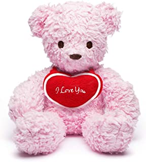 """product image for Bears For Humanity Pink 12"""" with I Love You Heart"""