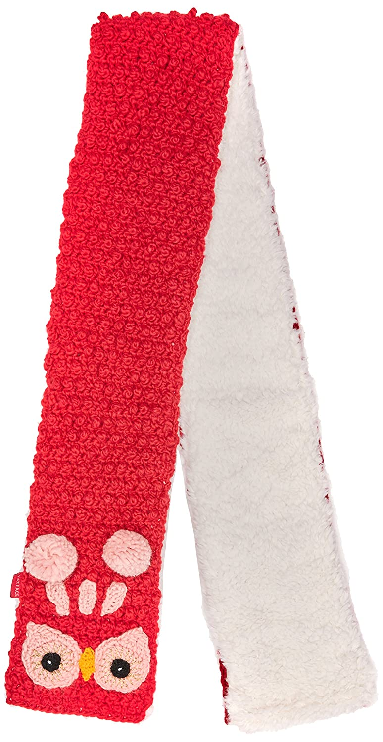 Fat Face Girl's Owl Gloves Fat Face Girl's Owl Scarf Pink (Raspberry) One Size 926267