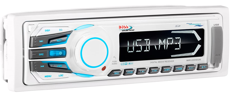 BOSS Audio MR1306UA In-Dash Single-Din Detachable USB//SD//MP3 Player Receiver with Remote