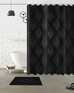 LB Wallpaper Pattern Concise Wall Art Decoration Polyester Shower Curtain Liner Fabric 3D 60x72 Mildew