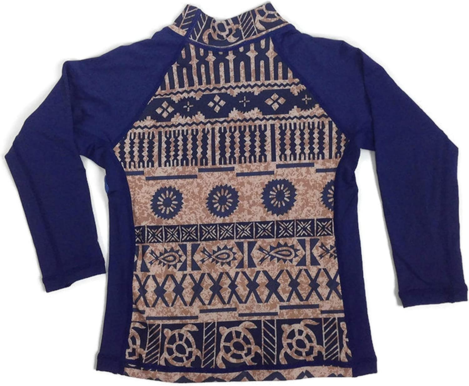 Boys Rash Guard Long Sleeve Aztec Swim Shirt Swimwear Top