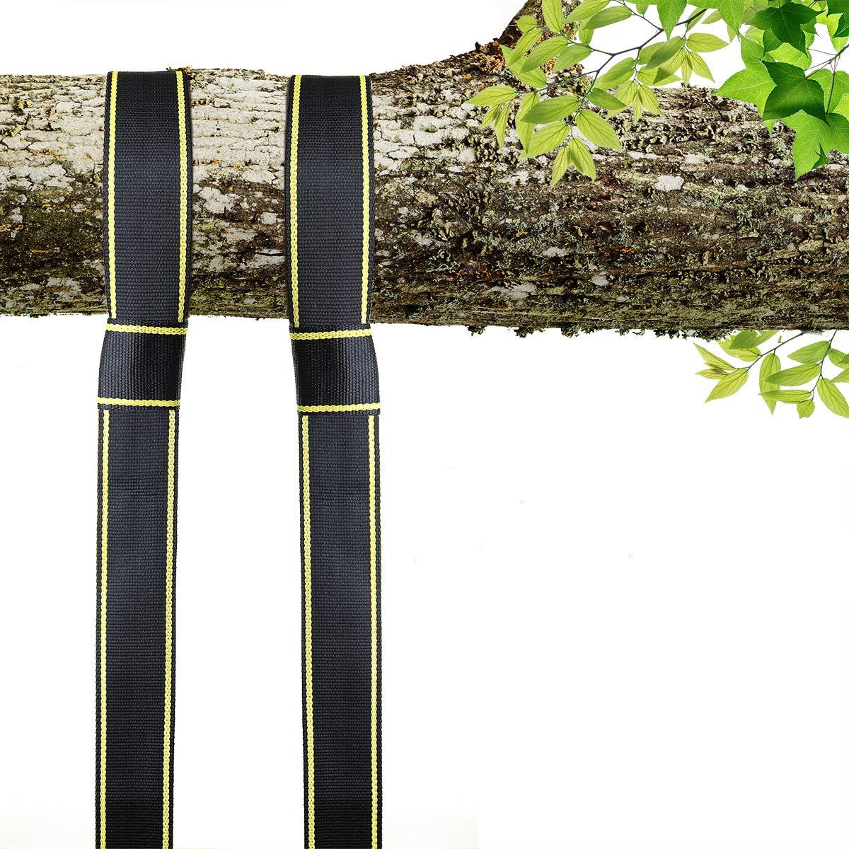 EKKONG Hamac Sangles, Set de Suspension Kit de Fixation pour Balançoire 1 Paire de Sangle de Fixation Balançoire en Nylon 150 cm * 5 cm, Adapté aux Hamacs sur Arbre