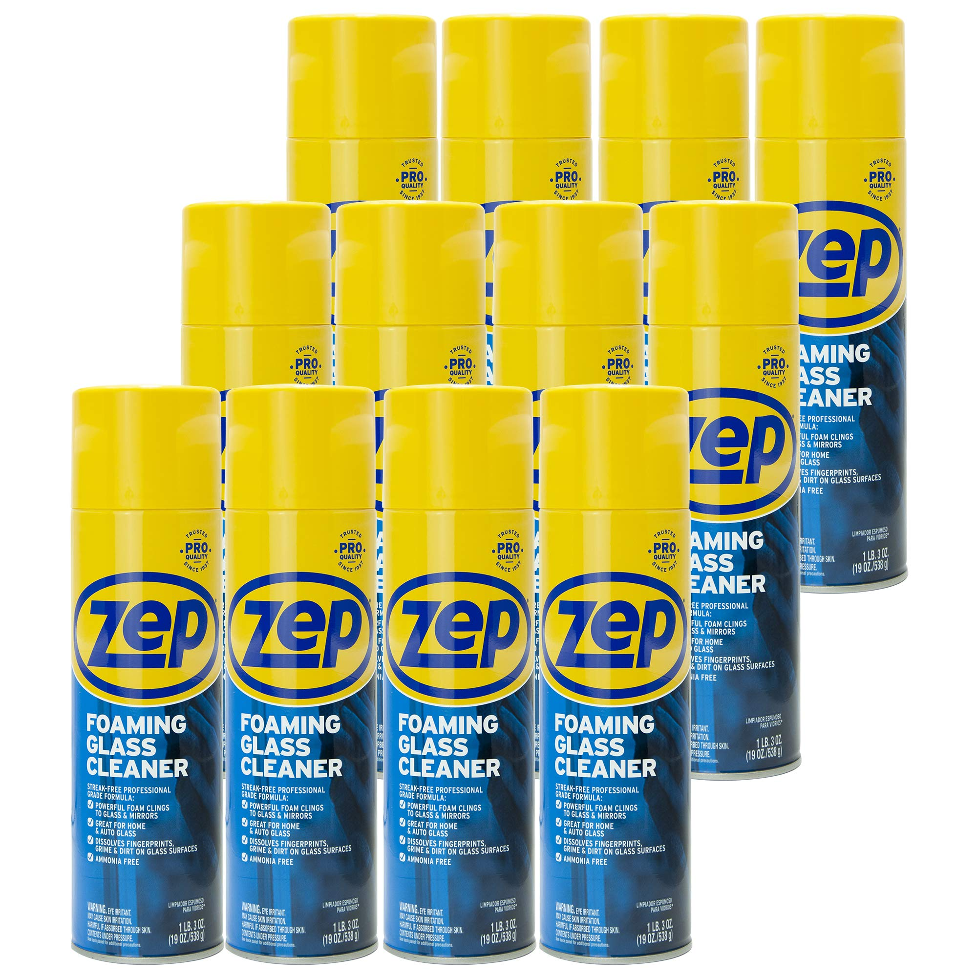 Zep Foaming Glass Cleaner 19 ounce ZUFGC19 (case of 12)