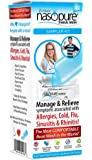 """Dr. Hana's Nasopure the """"Nicer Neti Pot""""   Sampler Kit   8 Ounce Bottle With 4 Buffered Salt Packets   Allergy and Congestion Relief Nasal Wash"""