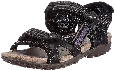 Geox Donna Strel D1125C05415C9999, Damen Sandalen/Fashion-Sandalen, Schwarz (black C9999), EU 37