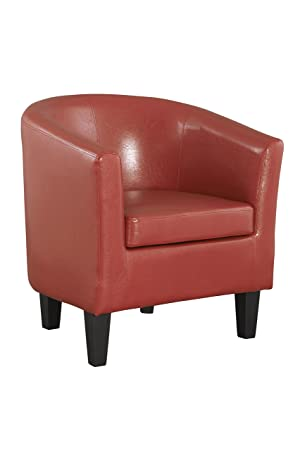 The One Sillón Rojo sillón - Rojo Piel sintética sillón ...