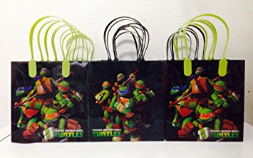 Amazon.com: Ninja Turtles Party Favor Goodie Small Gift Bags 12 ...