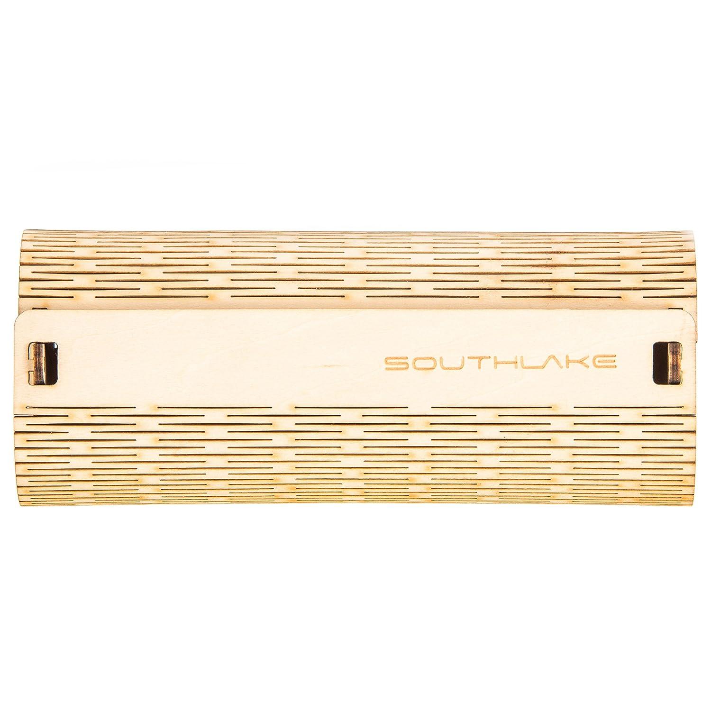 Southlake Etui nat/ürliches Design Unisex f/ür Damen und Herren Brillenh/ülle//hardcase//hartschale//Brillen-Box Holz-Brillenetui f/ür Brille und Sonnenbrille