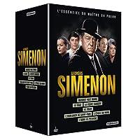 Coffret Georges Simenon: Le chat + L'étoile du nord + L'horloger de Saint-Paul + Maigret voit rouge + L'ours en peluche + Le train + La veuve Couderc [Francia] [DVD]