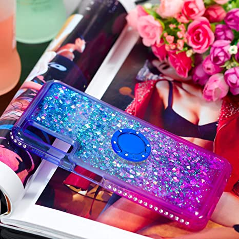 LOYBO490104 Ring #3 Glitter Silicone Lomogo Case for Galaxy A7 Shockproof Soft Rubber Bumper Case Non-Slip Back Cover Thin Fit for Samsung Galaxy A7 2018 2018
