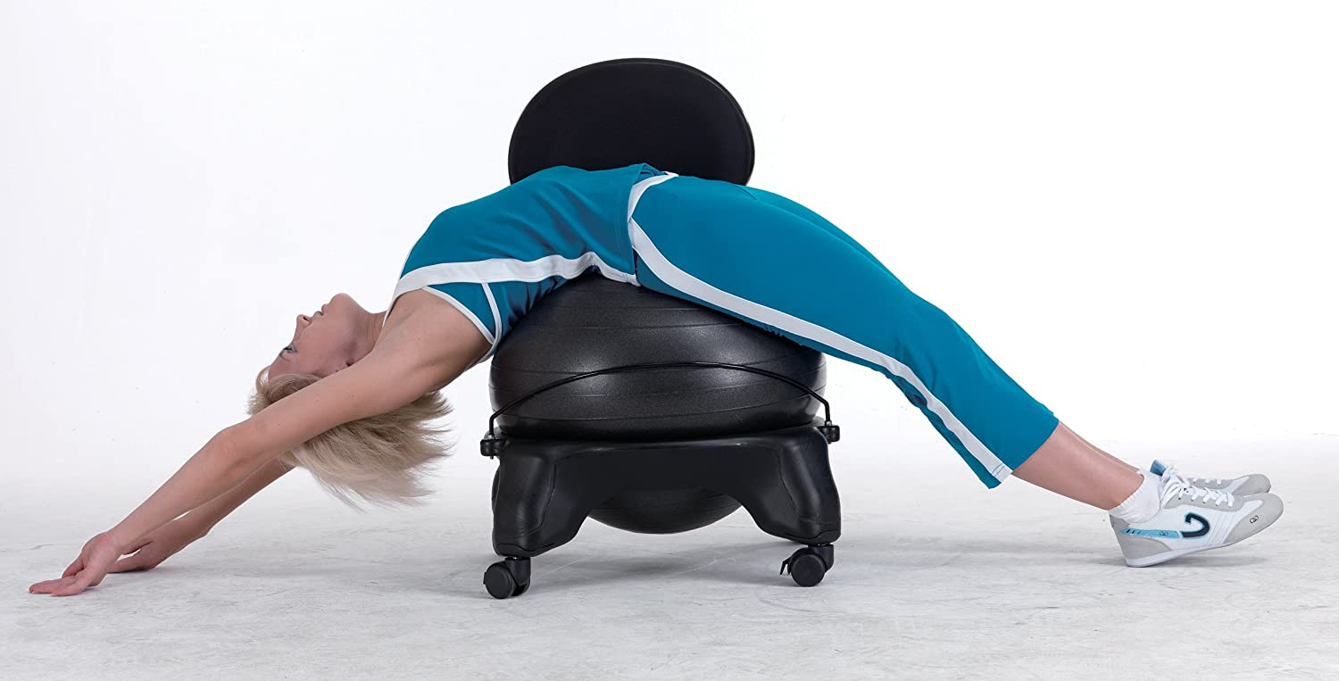 Sivan Adjustable Back Balance Ball Chair with Ball and Pump by Sivan Health and Fitness/Ã/'/Â/®
