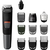 Philips Multigroom Series 5000 11-in-1 Face, Hair and Body Waterproof Trimmer/Clipper with DualCut Technology and 80 min…