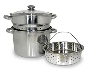8 QT 4 Piece Stainless Steel Multi-Cooker