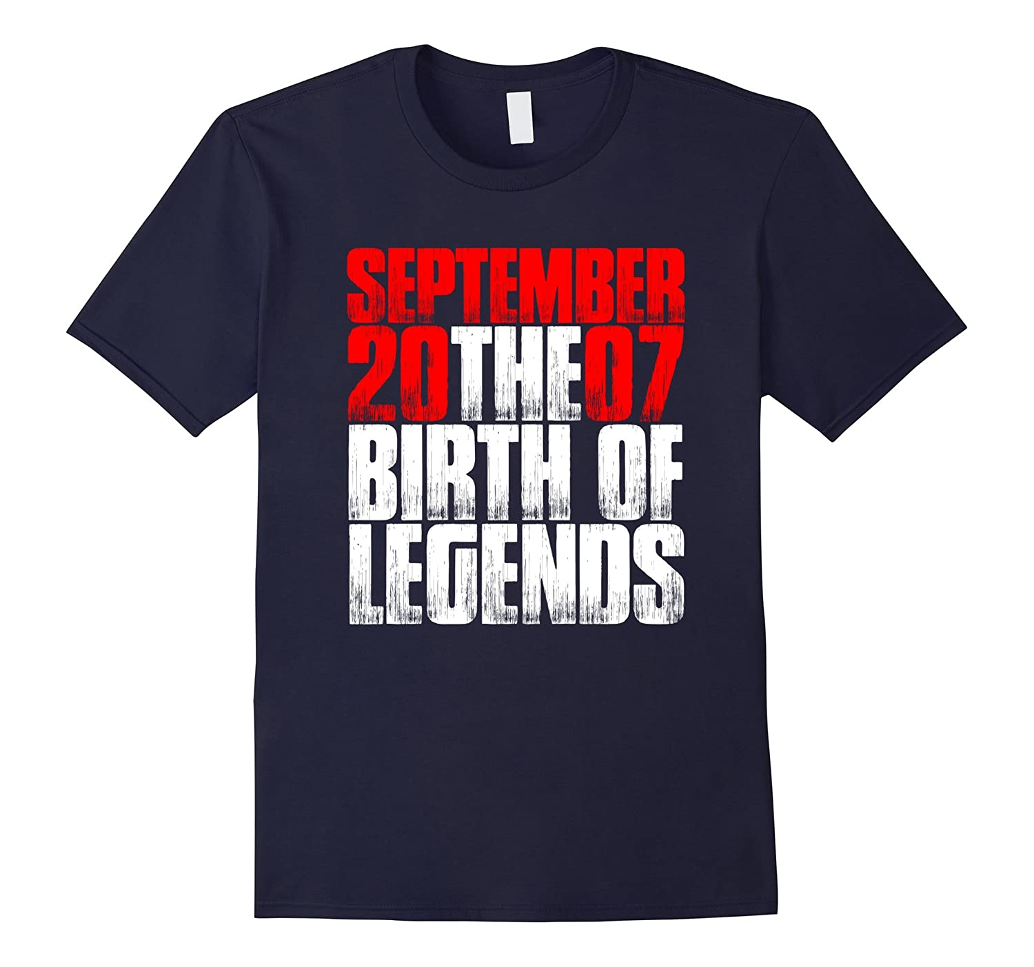 10th Birthday September 2007 The Birth Of Legends T Shirt-TH