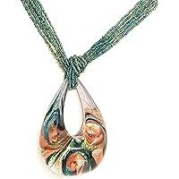 Venetiaurum - Collana donna in vetro originale di Murano e argento 925 - Gioiello made in Italy certificato