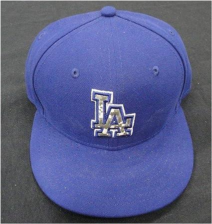 bb6d07c01 Trey Hillman #45 LA Dodgers Game Used July 4th Baseball Cap Hat 7/18 ...