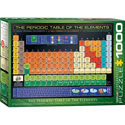EuroGraphics Periodic Table of Elements 1000 Piece Puzzle: Toys & Games