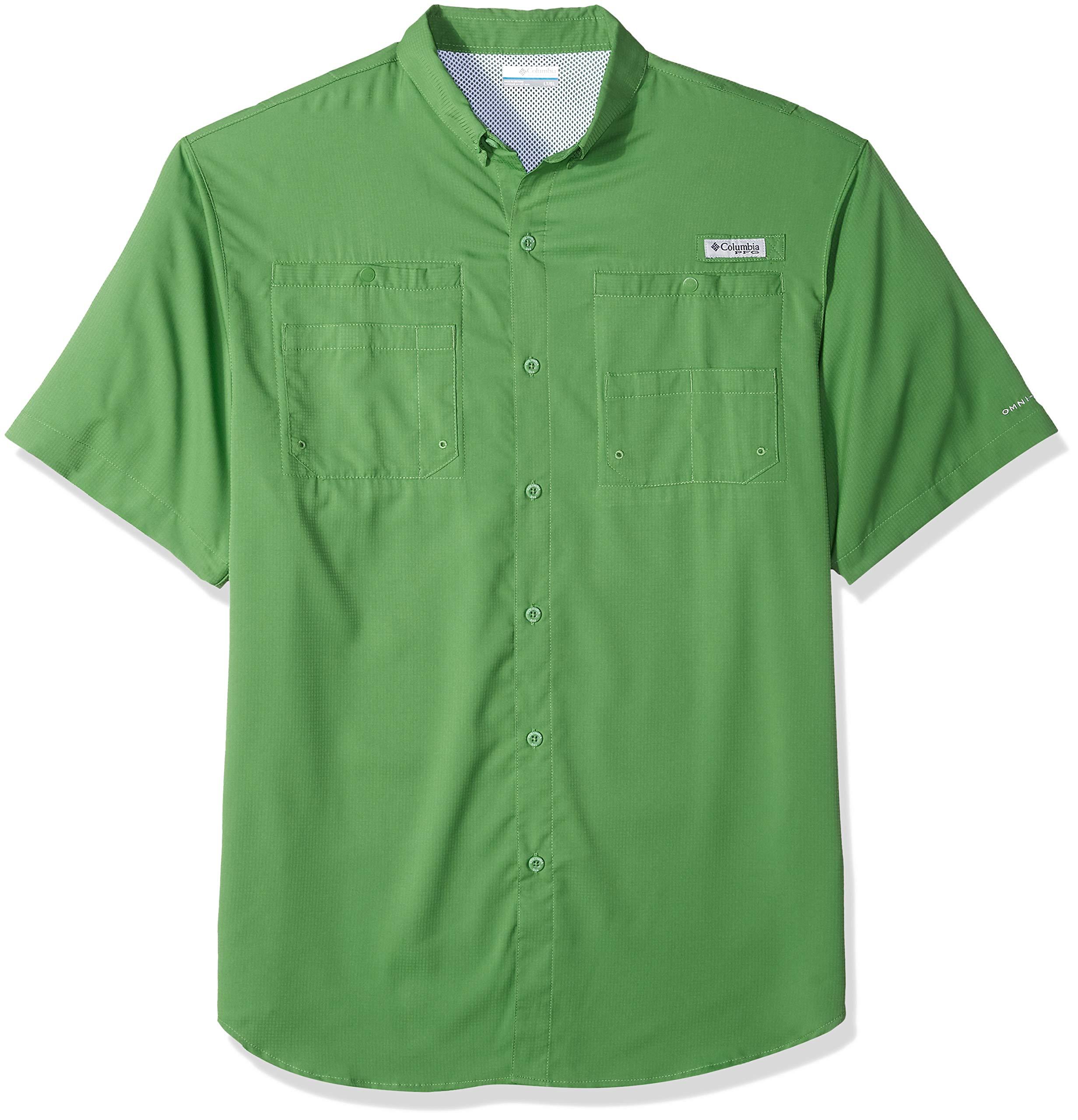 Columbia Men's Tamiami II Short Sleeve Fishing Shirt, Clean Green, 2XT