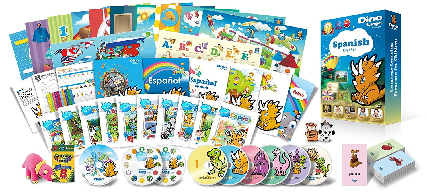 Amazon.com: Spanish for Kids Premium Set, Spanish Language ...