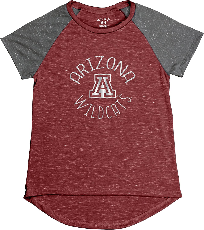 Red Large Blue 84 NCAA Arizona Wildcats Womens Gracie Confetti Raglan Tee