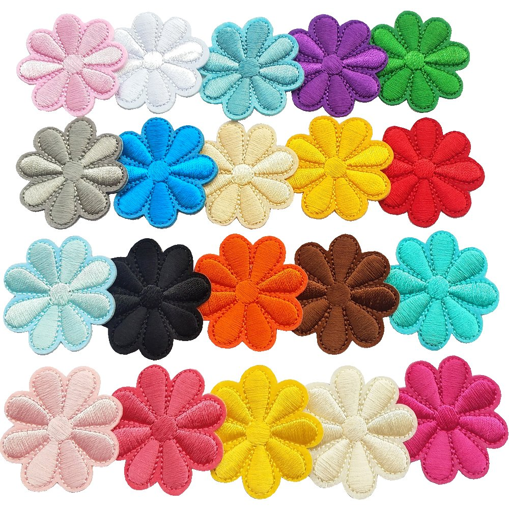Peony Dandan DIY 6pcs Mix Lots Peony Sew-on /& Iron-on Patch Dress Embroidered Appliques Patches