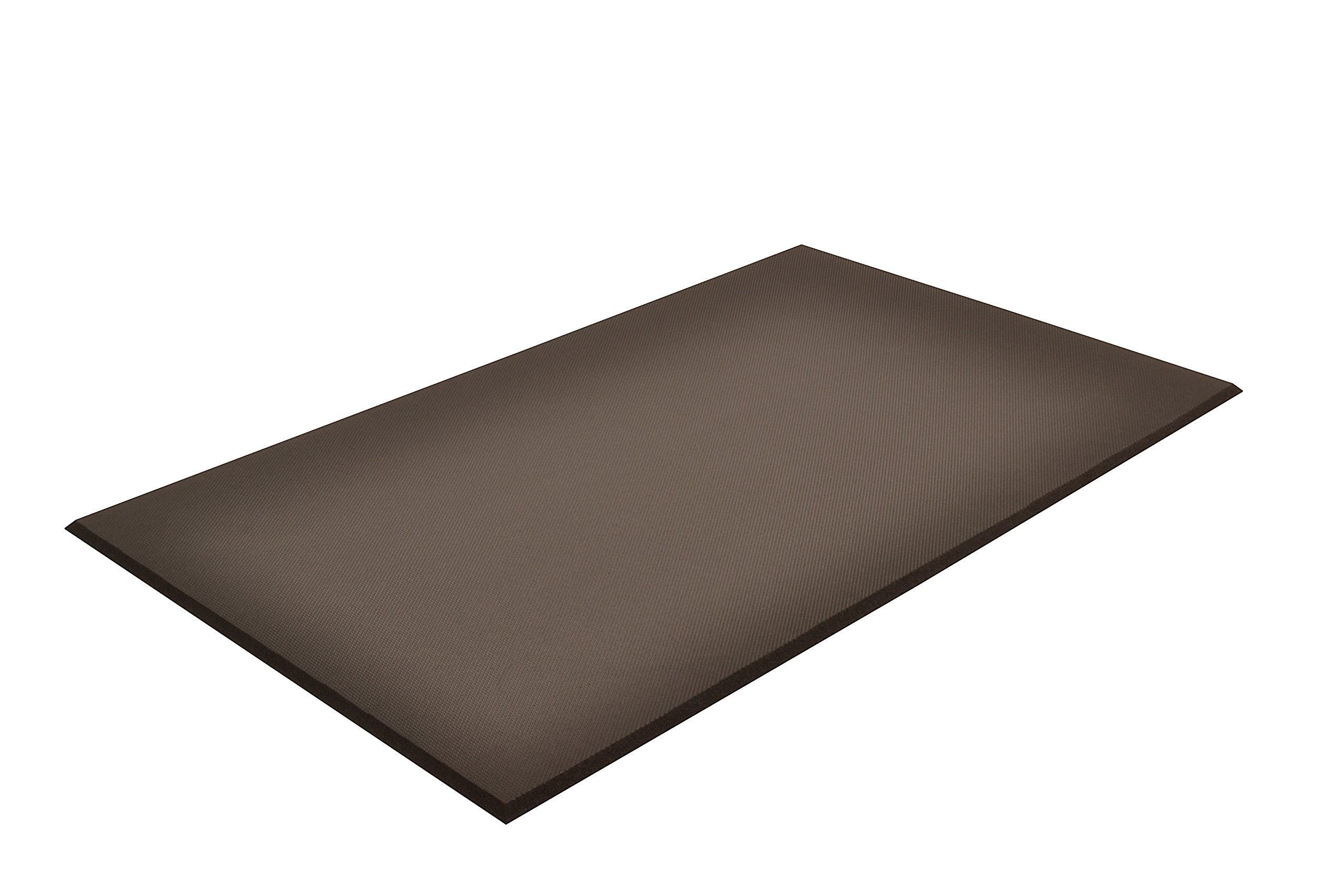NoTrax T17 Superfoam Safety/Anti-Fatigue Floor Mat, for Dry Areas, 3' Width x 5' Length x 5/8'' Thickness, Black by NoTrax (Image #1)